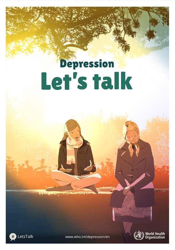 WHO - Depression: let's talk poster